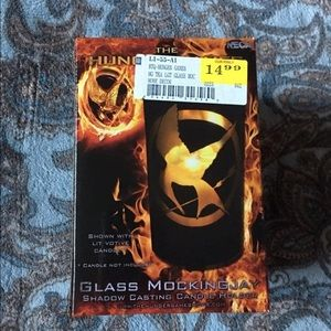 The Hunger Games Glass Mockingjay Candle Holder